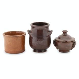 Ontario Redware Miniature Pots