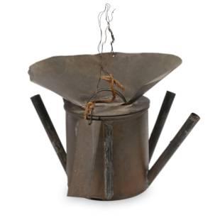 Primitive Quebec Tin Torch Lamp