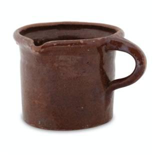 Ontario Redware Invalids Cup
