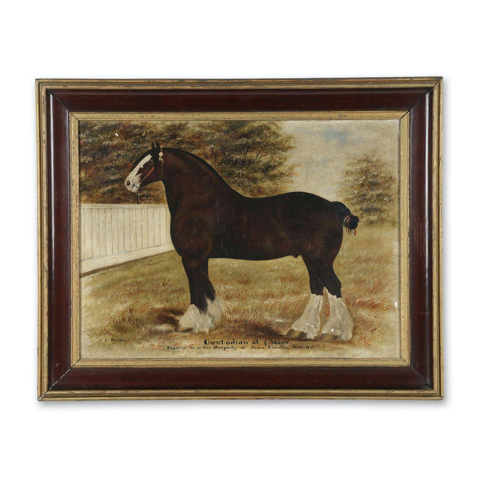 J.J. Kenyon Oil On Canvas of a Horse