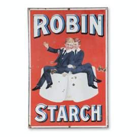 Robin Starch Porcelain Sign