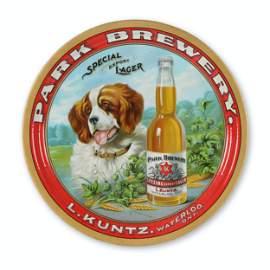 "Kuntz ""St. Bernard"" Tin Litho Beer Tray"