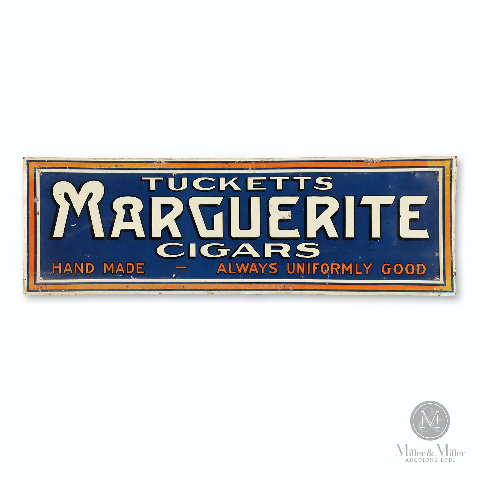 Tucketts Marguerite Cigars Tin Litho Sign