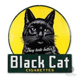 Black Cat Cigarettes Porcelain Sign