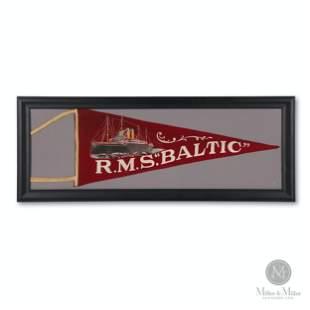 "White Star Line R.M.S. ""Baltic"" Ship Pennant"