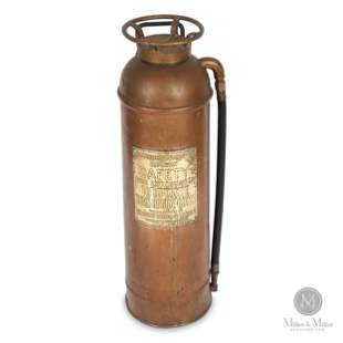 Canadian Pacific Railway Brass Fire Extinguisher