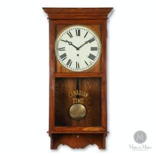 """Pequegnat """"Canadian Time"""" Wall Clock"""