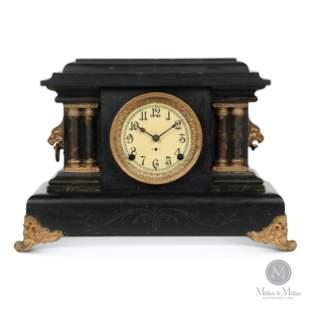 """Pequegnat """"Black Ontario"""" Mantle Clock"""