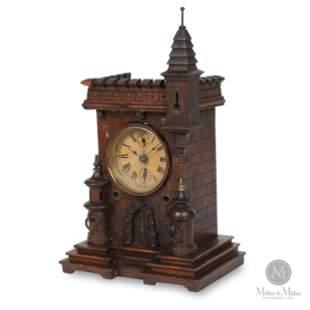 Junghans Figural Castle Alarm Clock