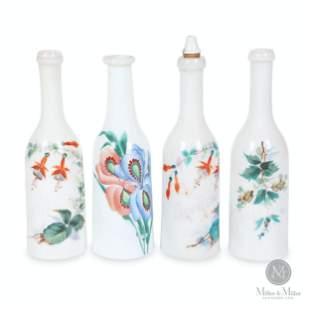 Decorated Opaline Barber's Bottles