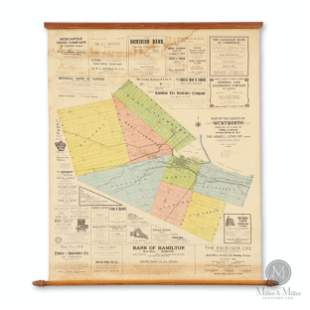 1908 Scroll Map of Wentworth County