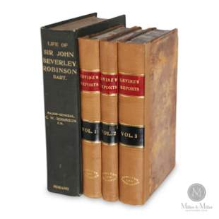 "Signed ""Sir John Beverley Robinson Bart"" Law Books"