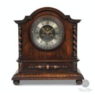 French 8-Day Oak Shelf Clock