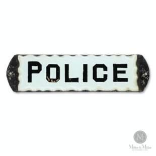 Police Reverse Glass Door Sign