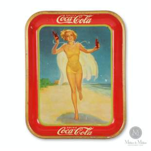 Coca-Cola 1937 Tin Litho Serving Tray