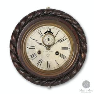 Ansonia Carved 8-Day Wall Clock