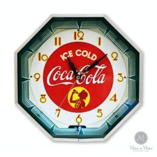 Coca-Cola 'Silhouette Girl' Neon Clock