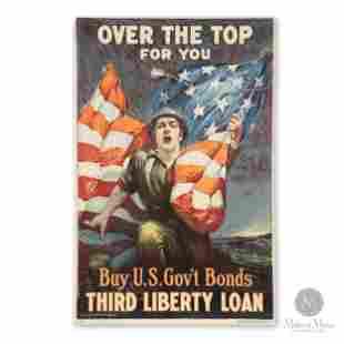 """American WWI """"Liberty Loan"""" Propaganda Poster"""