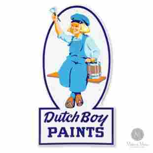 Dutch Boy Paints Porcelain Sign