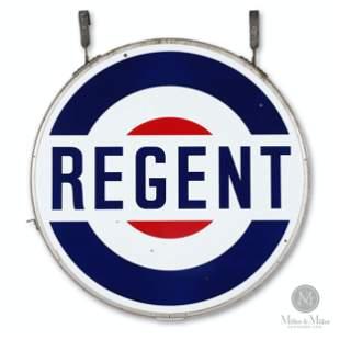 Regent 5' Porcelain Service Station Sign