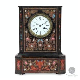 Inlaid French Mantel Clock