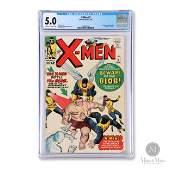 Marvel 1964, X-Men #3 CGC 5.0