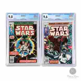 Marvel 1977, Star Wars #1 & #3 CGC 9.0, 9.6