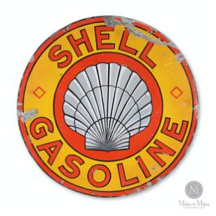 "Shell Gasoline ""Roxanna"" Porcelain Sign"