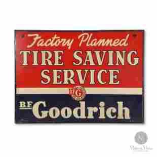 WWII-Era B.F. Goodrich Tire Saving Service Sign