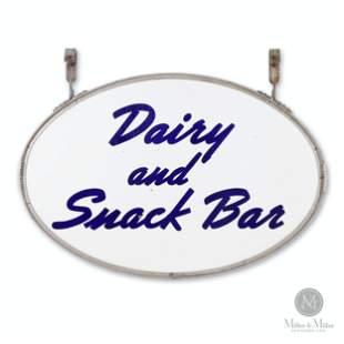 Dairy & Snack Bar Porcelain Sign