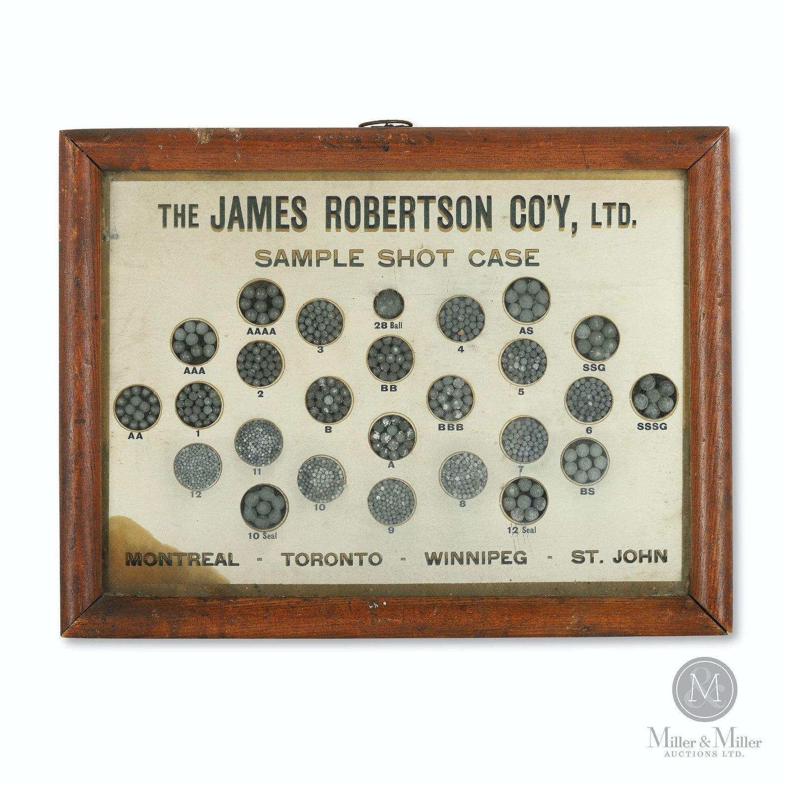 James Robertson Co., Toronto Sample Shot Case
