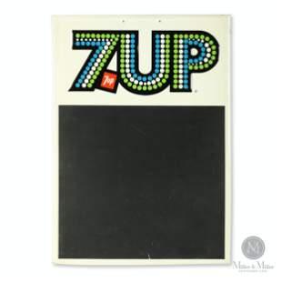 Seven-Up Tin Litho Chalkboard