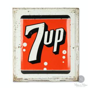 Seven-Up Tin Litho Sign