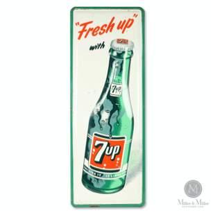 "Seven-Up ""Fresh up"" Tin Litho Sign"