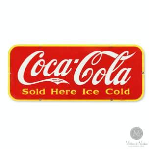 Coca-Cola Door Porcelain Door Kick Sign
