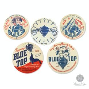 Blue Top Brewery Beer Coasters