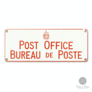Ontario Post Office Porcelain Sign