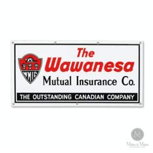 Wawanesa Mutual Insurance Porcelain Sign
