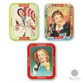 1948, 1950 & 1957 Coca-Cola Girl Trays