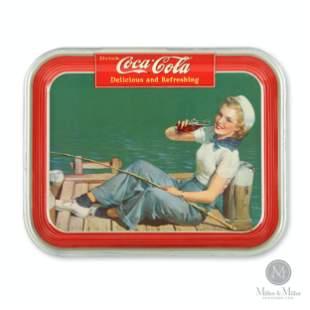 1940 Coca-Cola Sailor Girl Tray