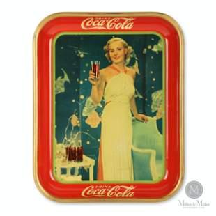 1935 Coca-Cola Madge Evans Tray