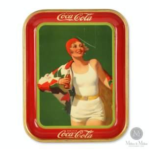 1930 Coca-Cola Bather Girl Tray