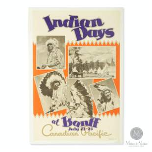 """Canadian Pacific """"Indian Days at Banff"""" Poster"""