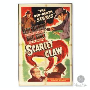 """Sherlock Holmes """"The Scarlet Claw"""" Movie Poster"""