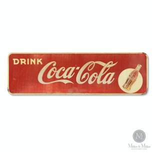 Coca-Cola Tin Litho Horizontal Sign
