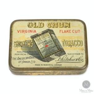 Old Chum Tin Litho Tobacco Tin