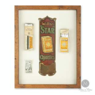 Wills's Star Cigarettes Match Strike Display