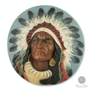 Cigar Store Indian Wall Plaque