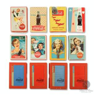 Collection of Coca-Cola Playing Card Decks