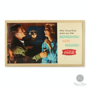 Coca-Cola Fishtail Cardboard Sign